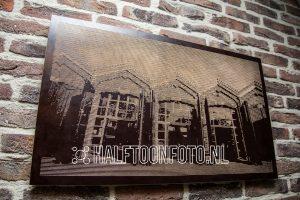 Halftoonfoto van De Oude Remise in Bad Nieuweschans